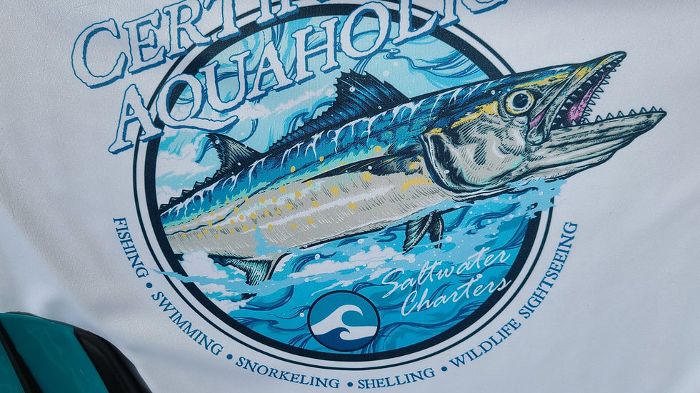 Certified Aquaholic fishing UV protective