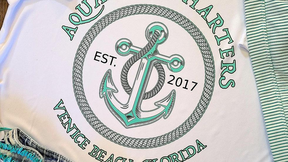 Aquaholic Charters Women's Anchor Logo UV Shirt