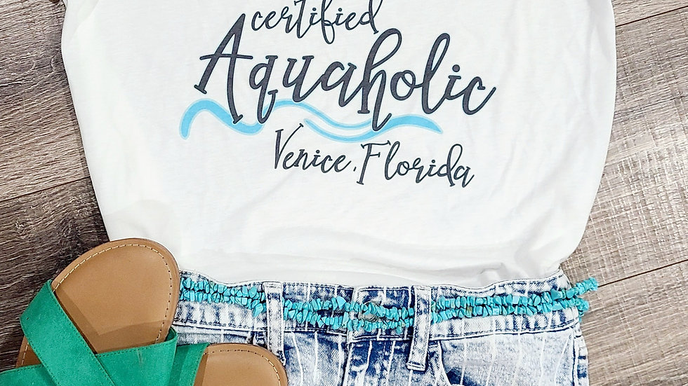 Women's Certified Aquaholic Scoop Neck T-Shirt
