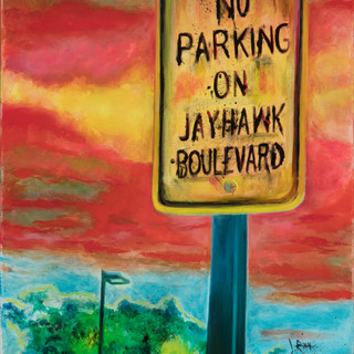 #30 Jayhawl Blvd painting by Jody Ray