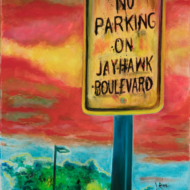 #30 Jayhawl Blvd painting by Jody Ray