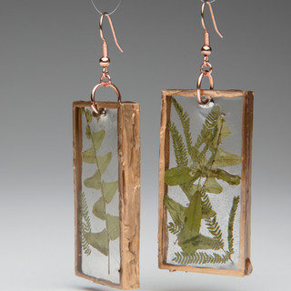 #15 pressed fern earrings by Lane Eisenbart