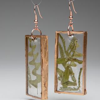 #15 pressed fern earrings by Lane Eisenbart