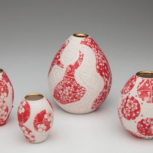 #32 ceramic vessels by Kim Brook