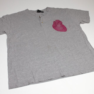 #9 heart print tee by Eric Farnsworth