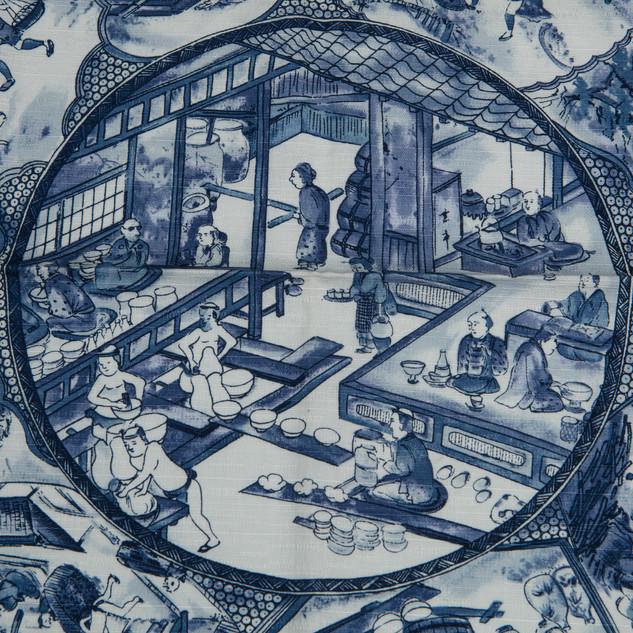 #3 Blue scarf detail