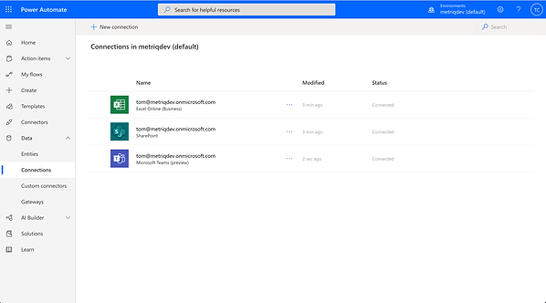 Microsoft Flow Connections