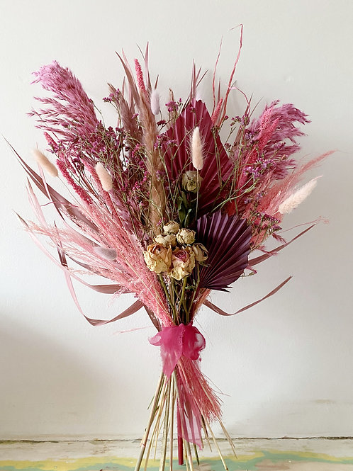 Perfectly Pink Large Dried Bouquet