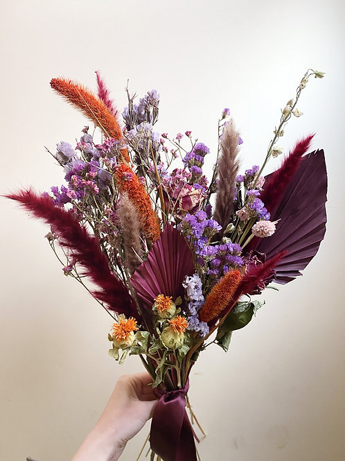 Raisin and Rust Dried Flower Bouquet