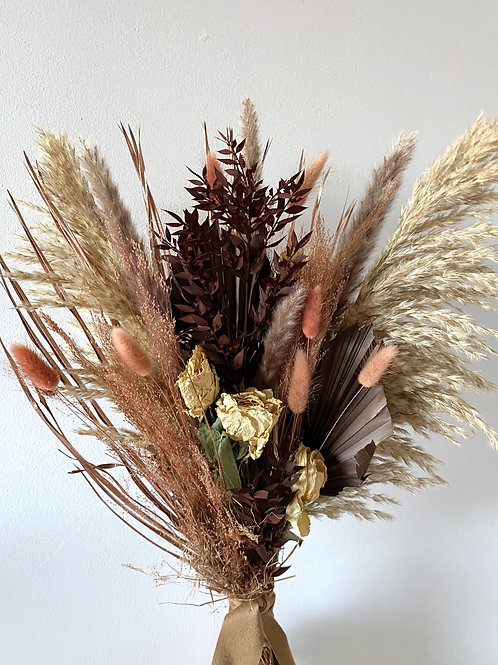 Chocolate and Copper Large Dried Bouquet