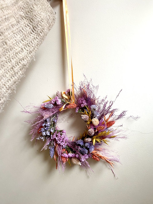 Summers Day Mini Dried Flower Wreath