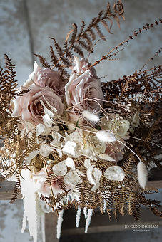 blush fresh and dried luxe boho bridal bouquet