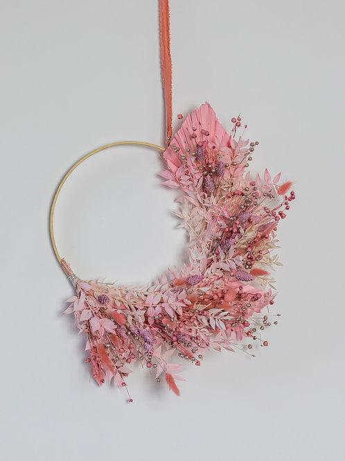Sugar Plum Fairy  Dried Crescent Wreath