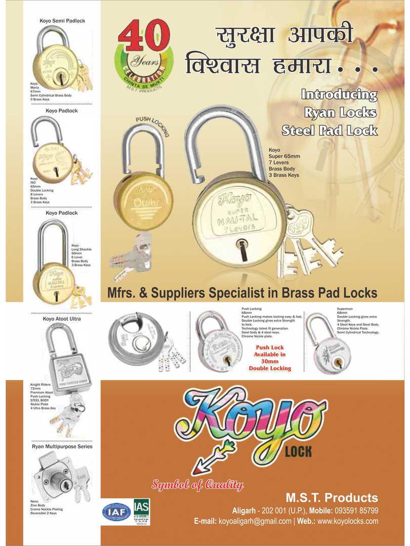 All types of Pad locks