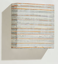 04.ORANGE LINE_15X15X4inches_ENCAUSTIC__