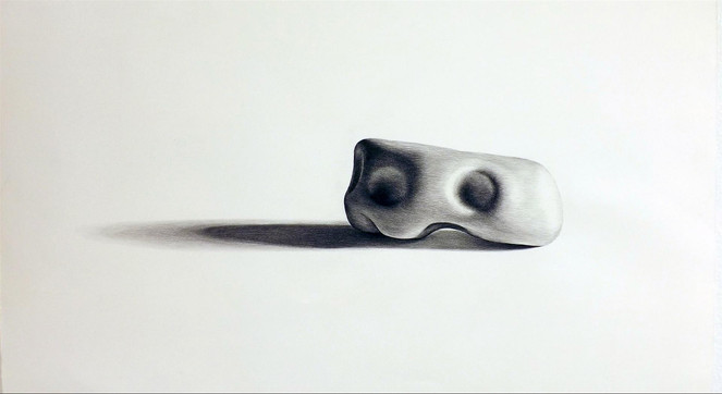 32.Small Stone #4 charcoal on paper 23%2