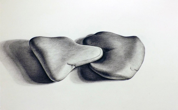 31.Small Stone #1b charcoal on paper 23%
