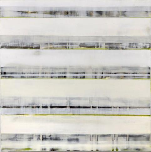 02.Truman Green Line 15x15x3.5 encaustic
