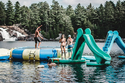 Water trampoline & Slides