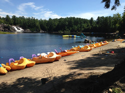 Paddle boats, kayaks & water bikes
