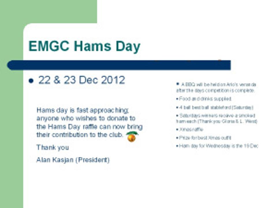 EMGC Hams Day