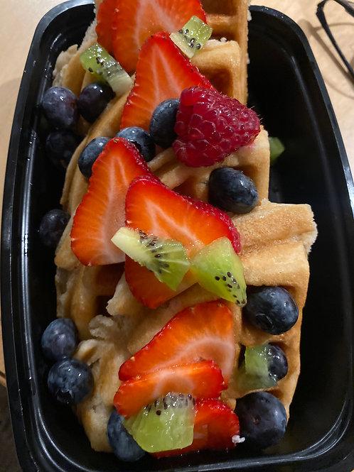 Fresh n Fruity Vegan Waffle Bowl