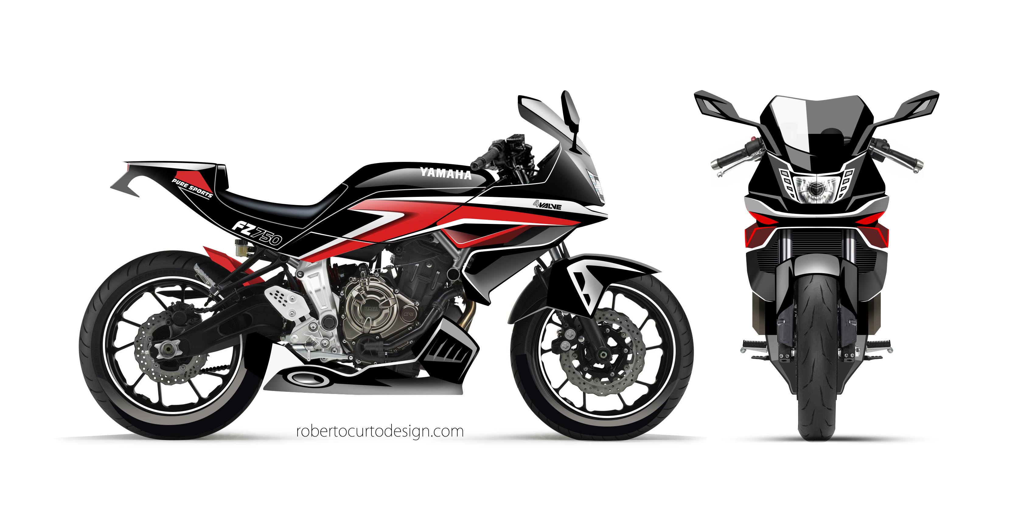 Yamaha FZ 750 concept 2017