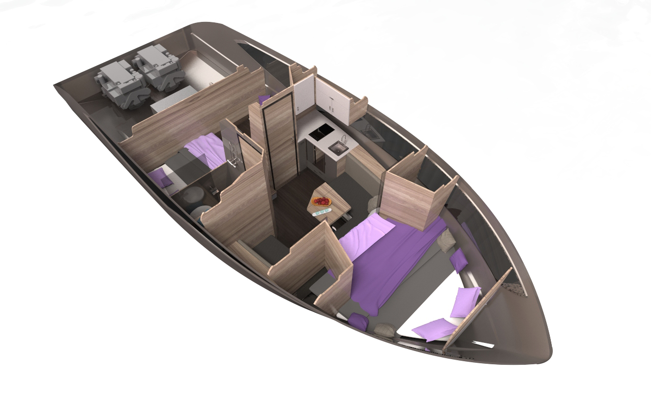 galeon 365 HTS plan