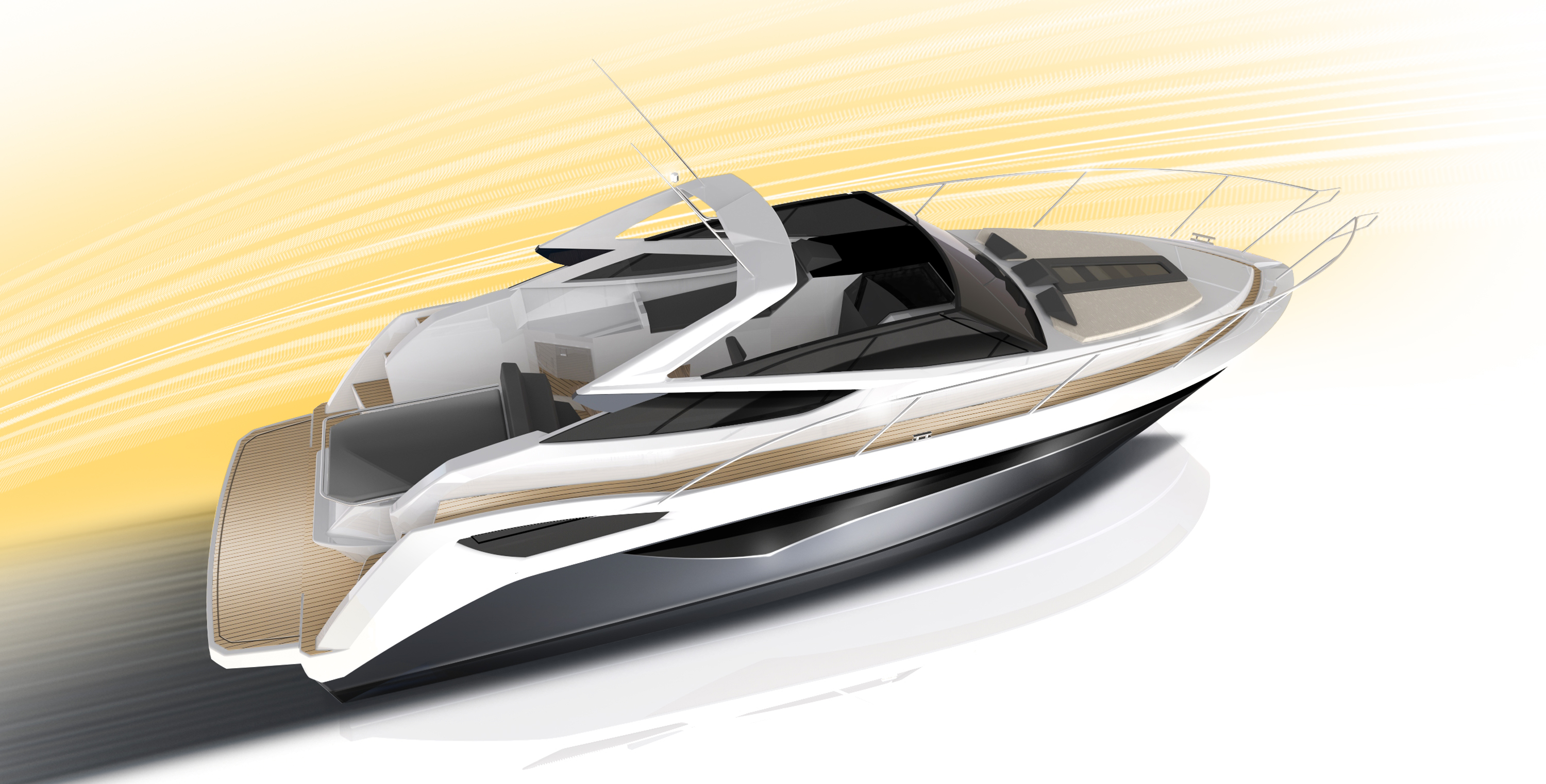 Galeon 305 Open sketch