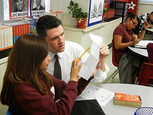 James Talarico for State Representative teaching children as a public school teacher.