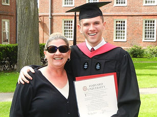 James Talarico for State Representative with his mom after graduating from Harvard.