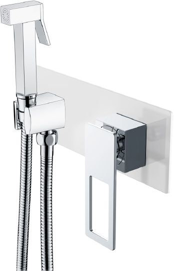 Гигиенический душ Boheme Q 147-WCR со смесителем, С ВНУТРЕННЕЙ ЧАСТЬЮ