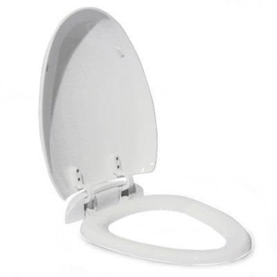 821BS сиденье для унитаза пластик с микролифтом, белое MELANA