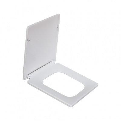 2007Sa сиденье для унитаза дюропласт с микролифтом, белое MELANA