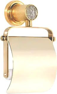 Держатель туалетной бумаги Boheme Royal Cristal Cold с крышкой