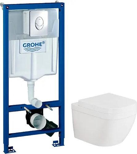 Комплект Инсталляция Grohe Rapid SL 3 в 1 с кнопкой смыва + Унитаз Grohe