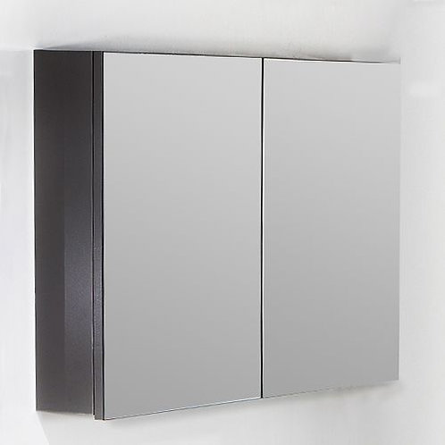 Зеркало-шкаф Armadi Art Vallessi 100 антрацит, глянец