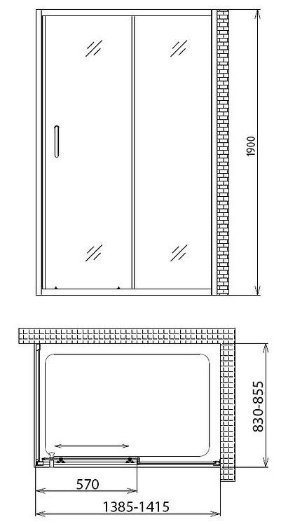 Душевой уголок Gemy Victoria S30191B-A85