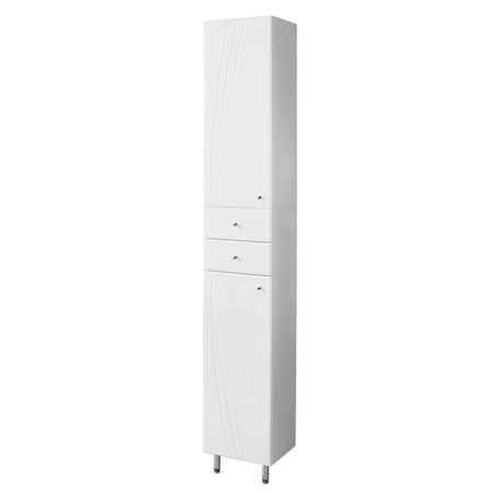 Акватон. Шкаф - колонна с бельевой корзиной левая МИНИМА М