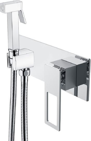 Гигиенический душ Boheme Q 147-CRCR со смесителем, С ВНУТРЕННЕЙ ЧАСТЬЮ