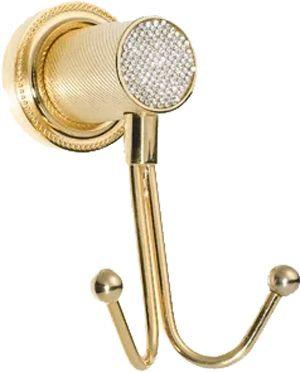 Крючок Boheme Royal Cristal Gold двойной