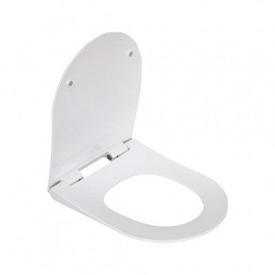 2011DS сиденье для унитаза дюропласт с микролифтом, белое MELANA