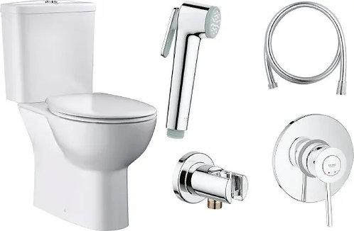 Комплект Унитаз-компакт Grohe Bau Ceramic 39349000 + Гигиенический душ Grohe