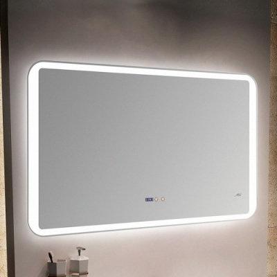 Зеркало с LED-подсветкой MELANA-12070 подогрев/часы (MLN-LED052)