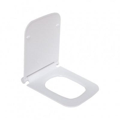 2122SD сиденье для унитаза дюропласт с микролифтом, белое MELANA