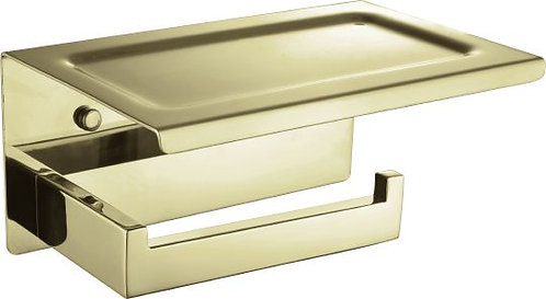 Держатель туалетной бумаги Boheme New Venturo 10311-G с полкой для телефона
