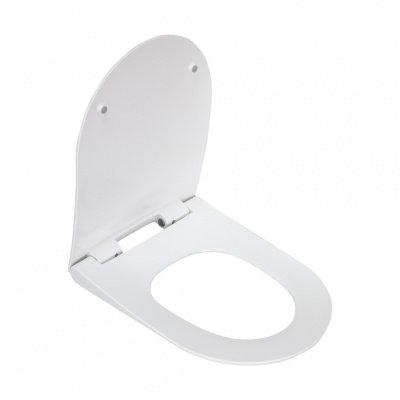 2014Sa сиденье для унитаза дюропласт с микролифтом, белое MELANA