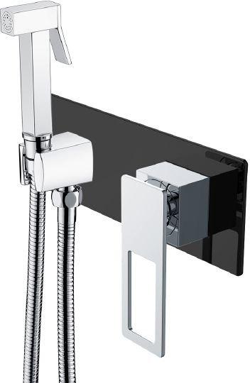 Гигиенический душ Boheme Q 147-BCR со смесителем, С ВНУТРЕННЕЙ ЧАСТЬЮ