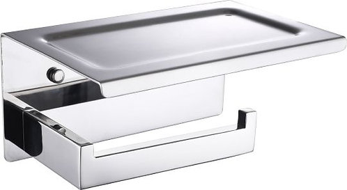 Держатель туалетной бумаги Boheme New Venturo 10311-CR с полкой для телефона