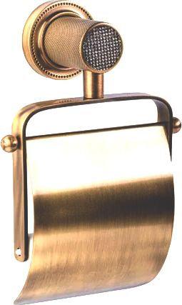 Держатель туалетной бумаги Boheme Royal Cristal Bronze с крышкой